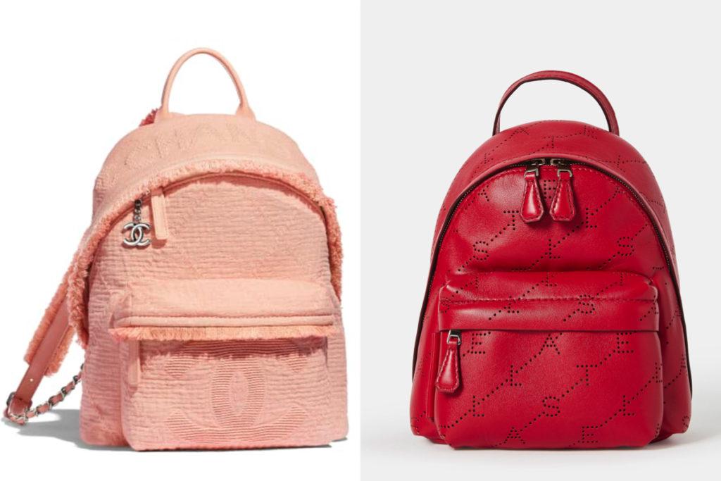 Due modelli di borse a zaino della Primavera-Estate 2019