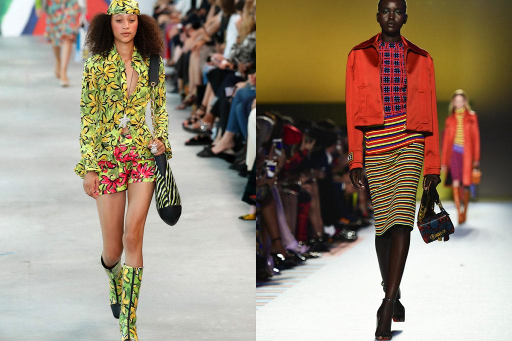 Giallo e arancio, i colori abbinati da Michael Kors e Versace