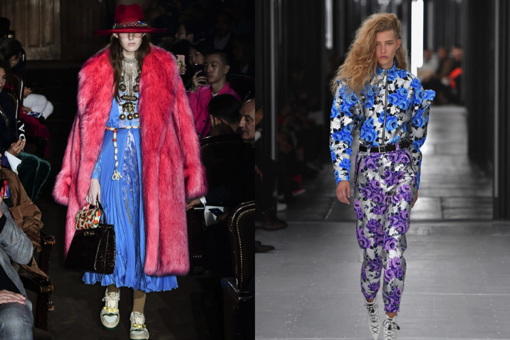 Indaco e fucsia o viola, da Gucci e Louis Vuitton