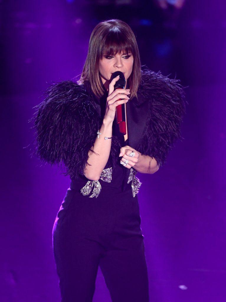Il beauty look di Alessandra Amoroso durante la terza serata di Sanremo 2019.