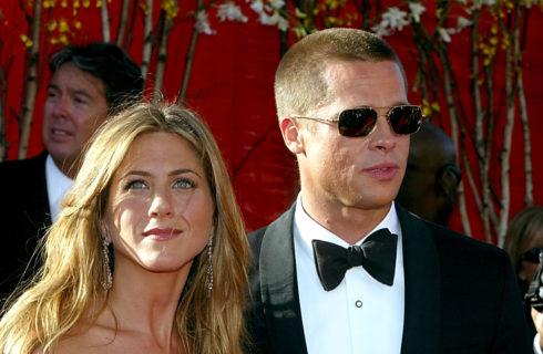 Brad Pitt, George e Amal Clooney alla festa per i 50 anni di Jennifer Aniston