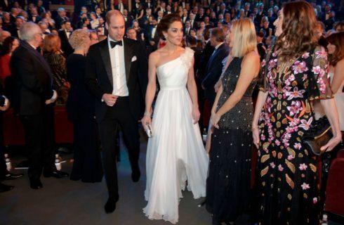 Kate Middleton ai BAFTA 2019 con gli orecchini di Lady Diana