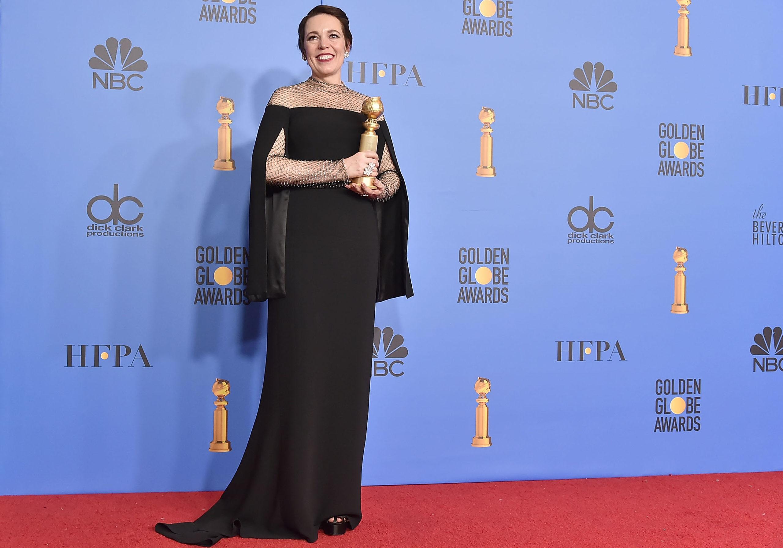 Olivia Colman ai Golden Globes