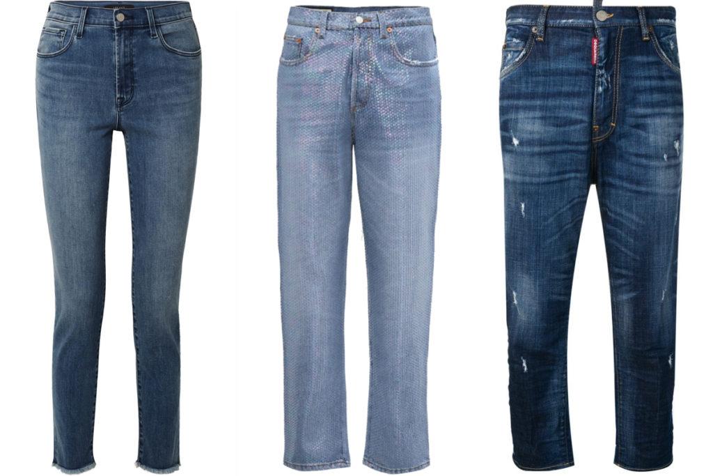 Tre paia di jeans a vita alta
