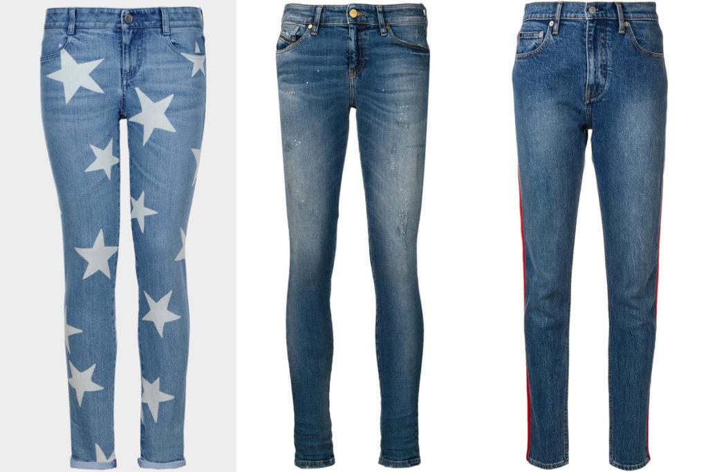 Tre paia di jeans skinny