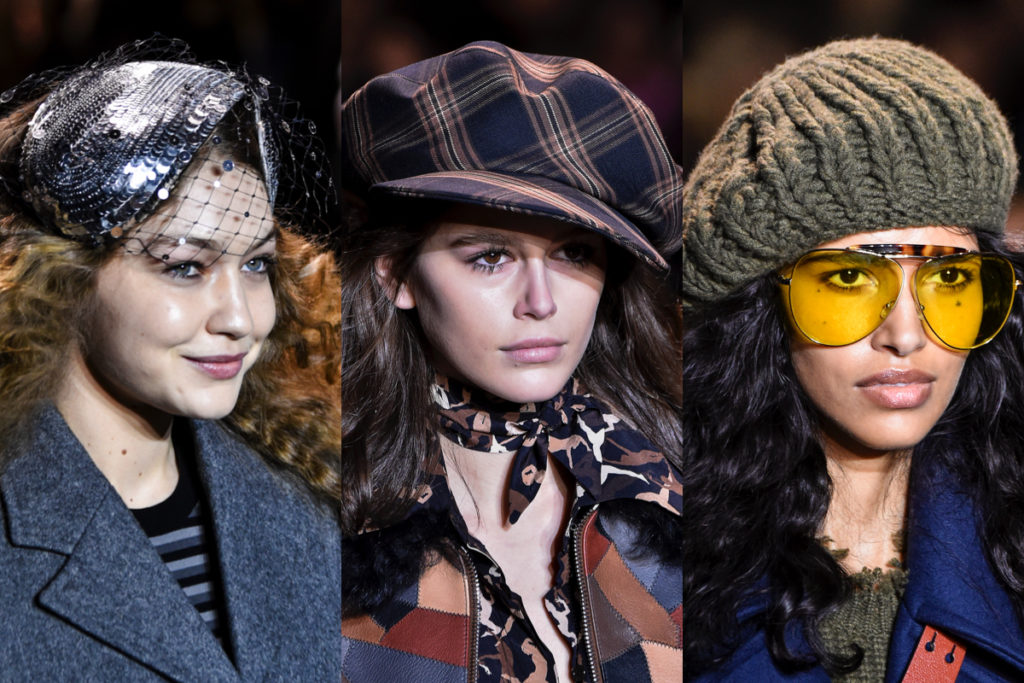 Veletta, berretto e cappello di lana della Michael Kors collezione Autunno-Inverno 2019/20