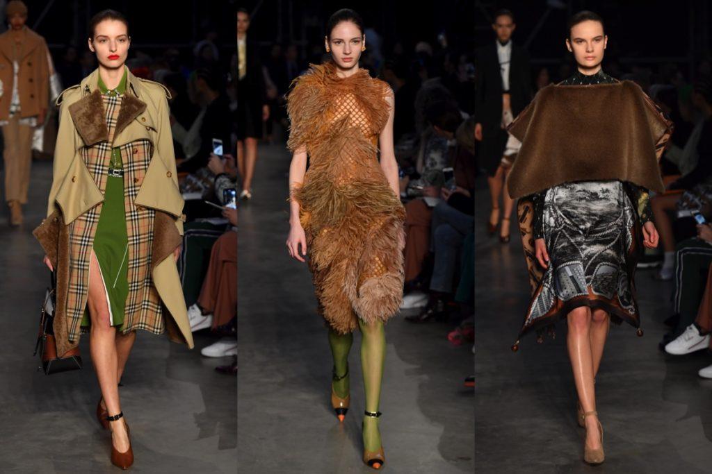 Tre uscite Burberry alla London Fashion Week
