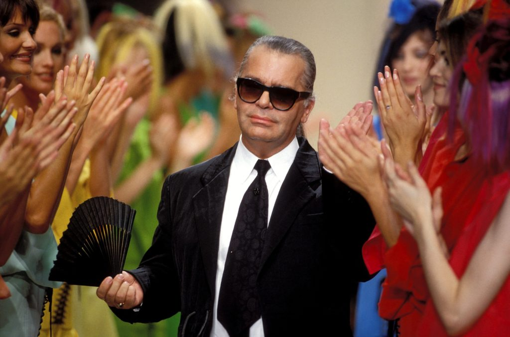 Karl Lagerfeld nel 1994