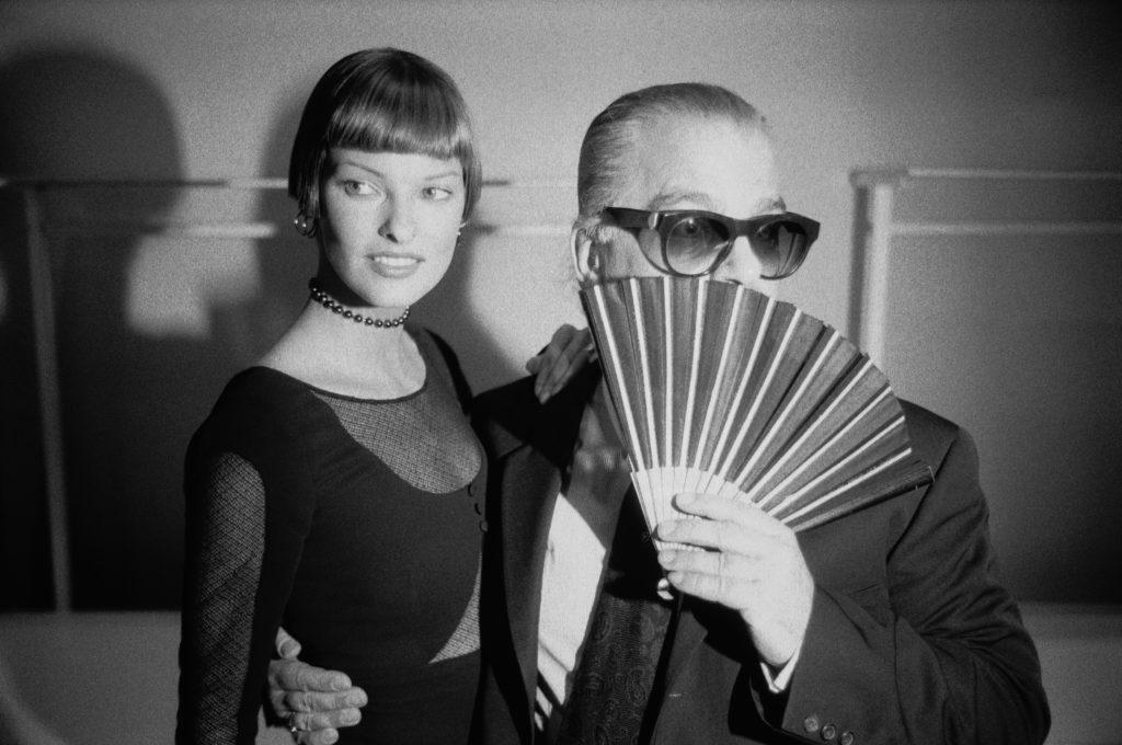 Karla Lagerfeld e Linda Evangelista