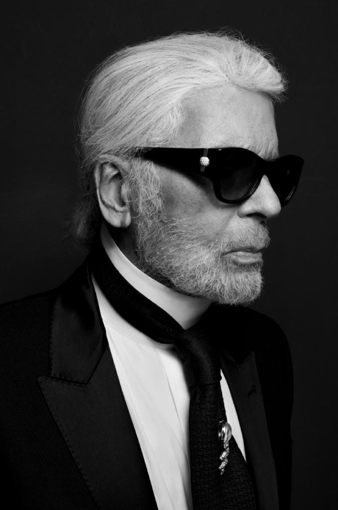 Un ritratto di Karl Lagerfeld