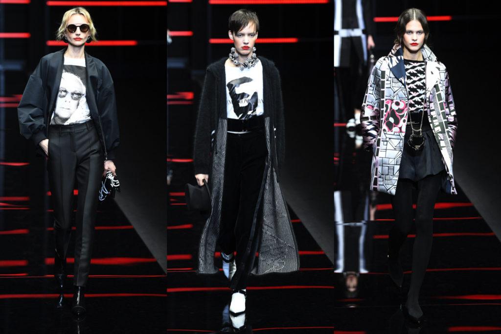 Tre look Emporio Armani