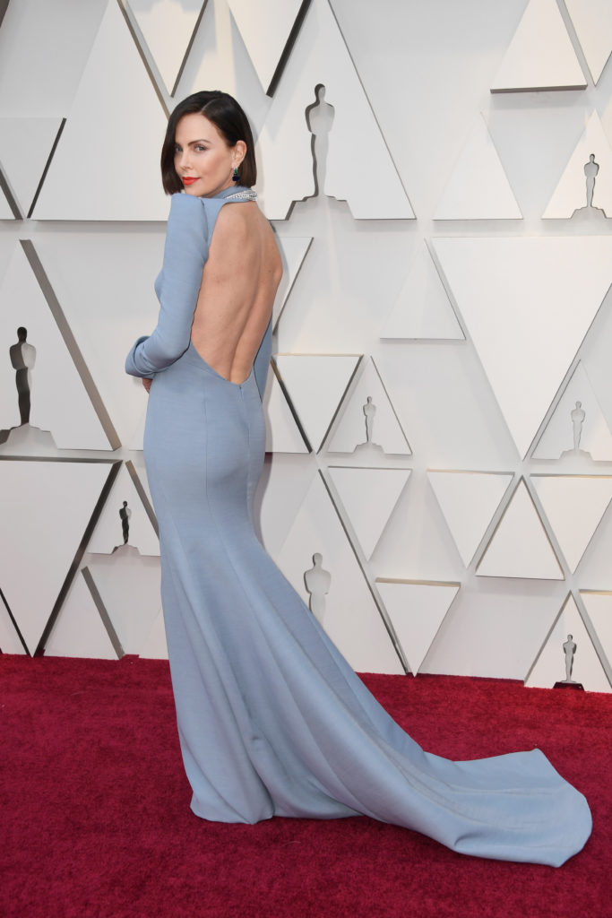 Charlize Theron in Dior agli Oscar 2019