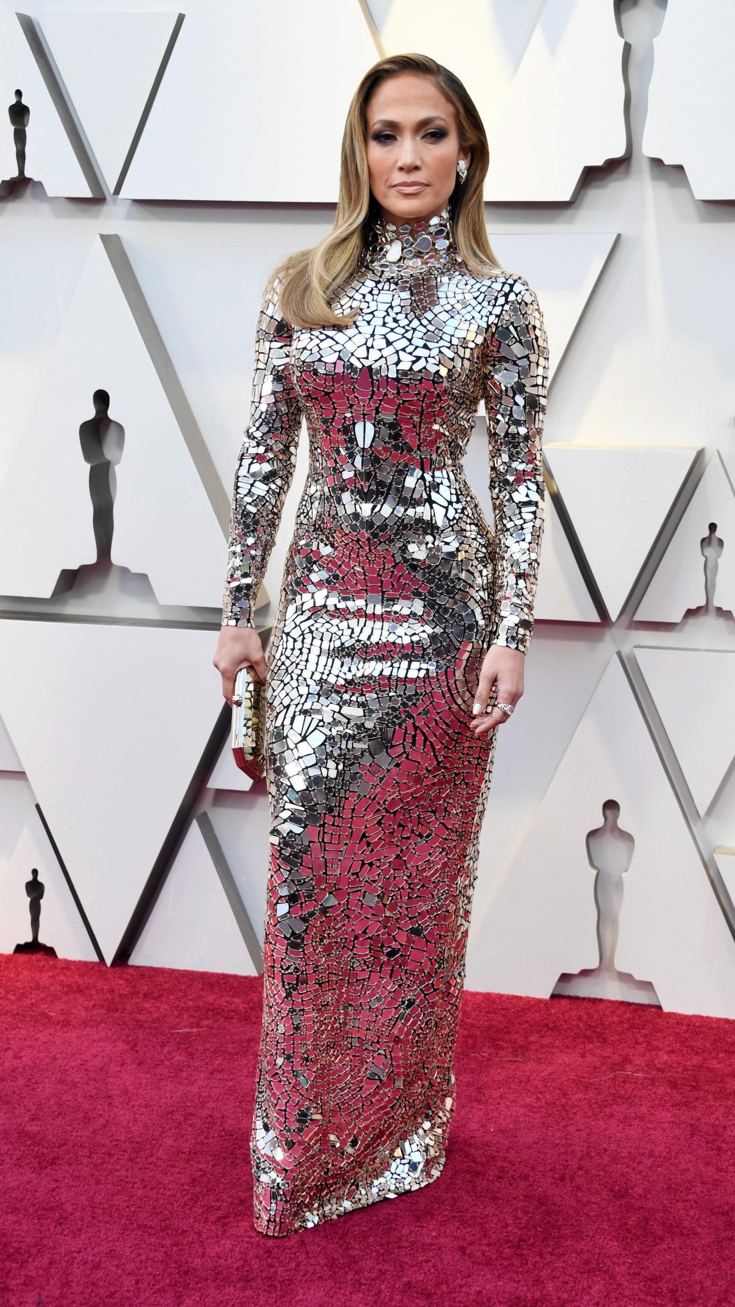 Jennifer Lopez in Tom Ford agli Oscar 2019