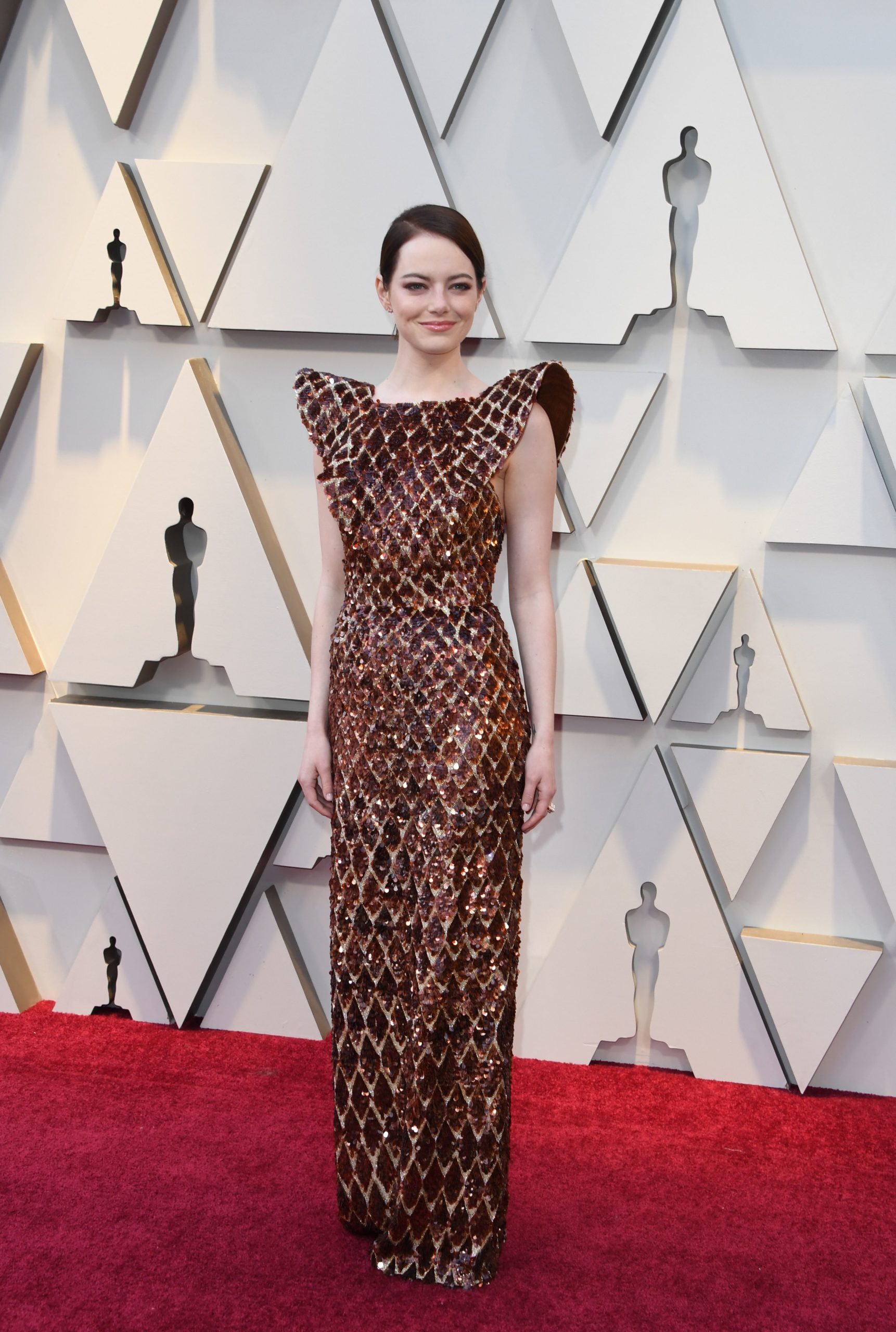 Emma Stone in Louis Vuitton agli Oscar 2019