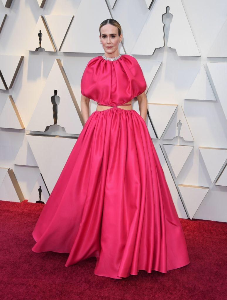 Sarah Paulson in Brandon Maxwell agli Oscar 2019