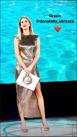 Look Versace per Alessia Marcuzzi