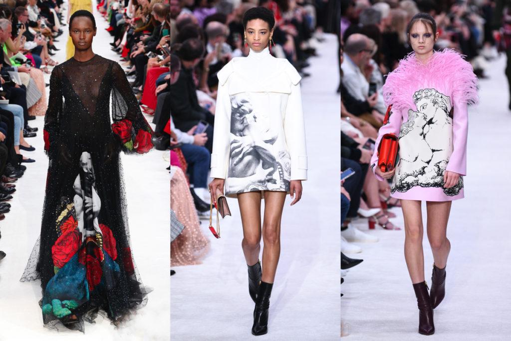 Tre look della sfilata Valentino Autunno-Inverno 2019/2020