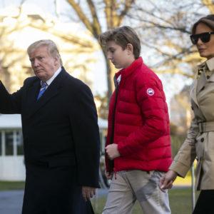Barron Trump appassionato di moda come Melania