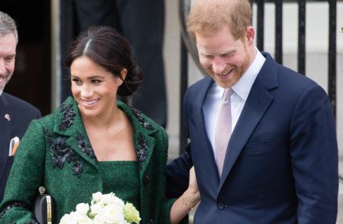 Meghan Markle: total look verde come Kate Middleton