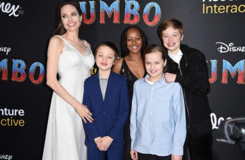 Angelina Jolie e i figli sul red carpet di Dumbo