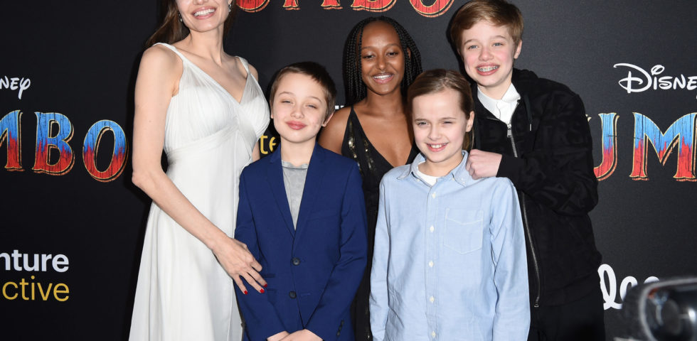 Angelina Jolie e i figli sul red carpet di Dumbo