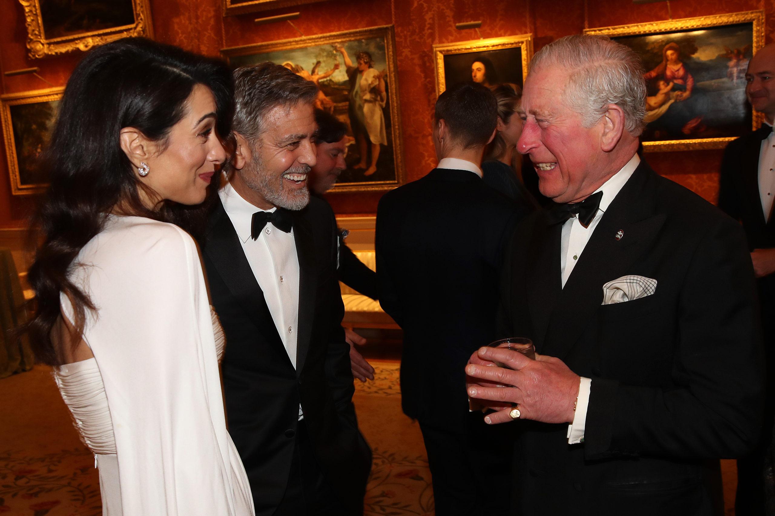 Amal incanta il Principe Carlo