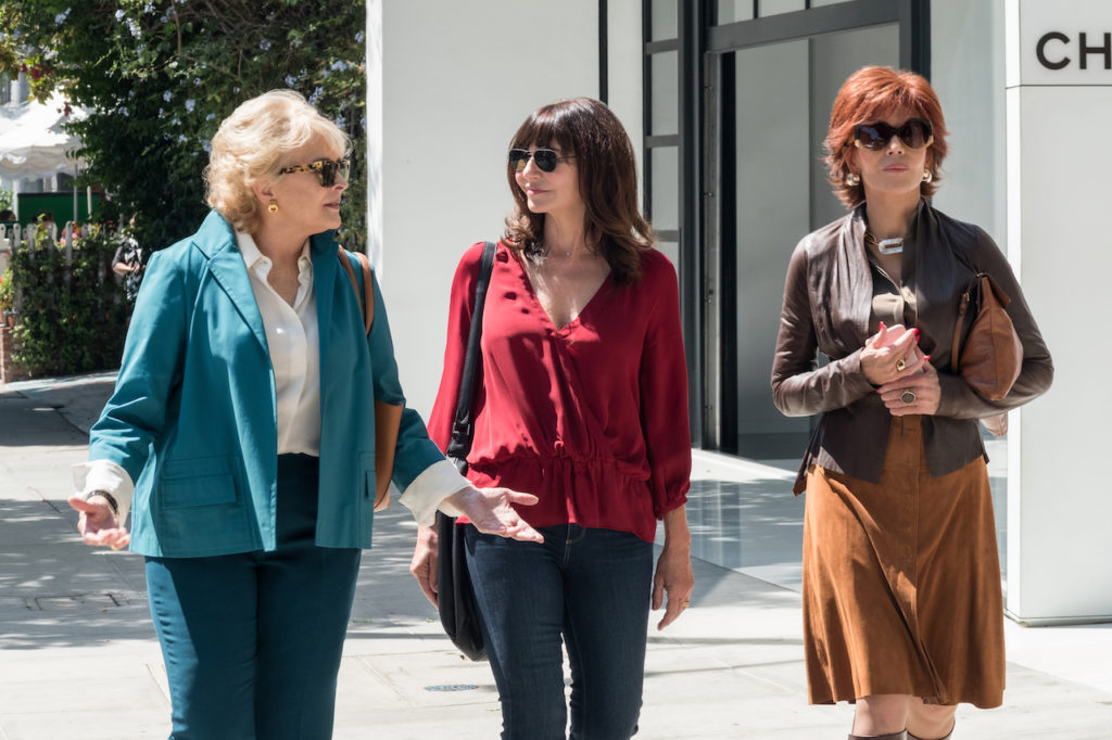 Candice Bergen, Mary Steenburgen e Jane Fonda in una scena di Book Club