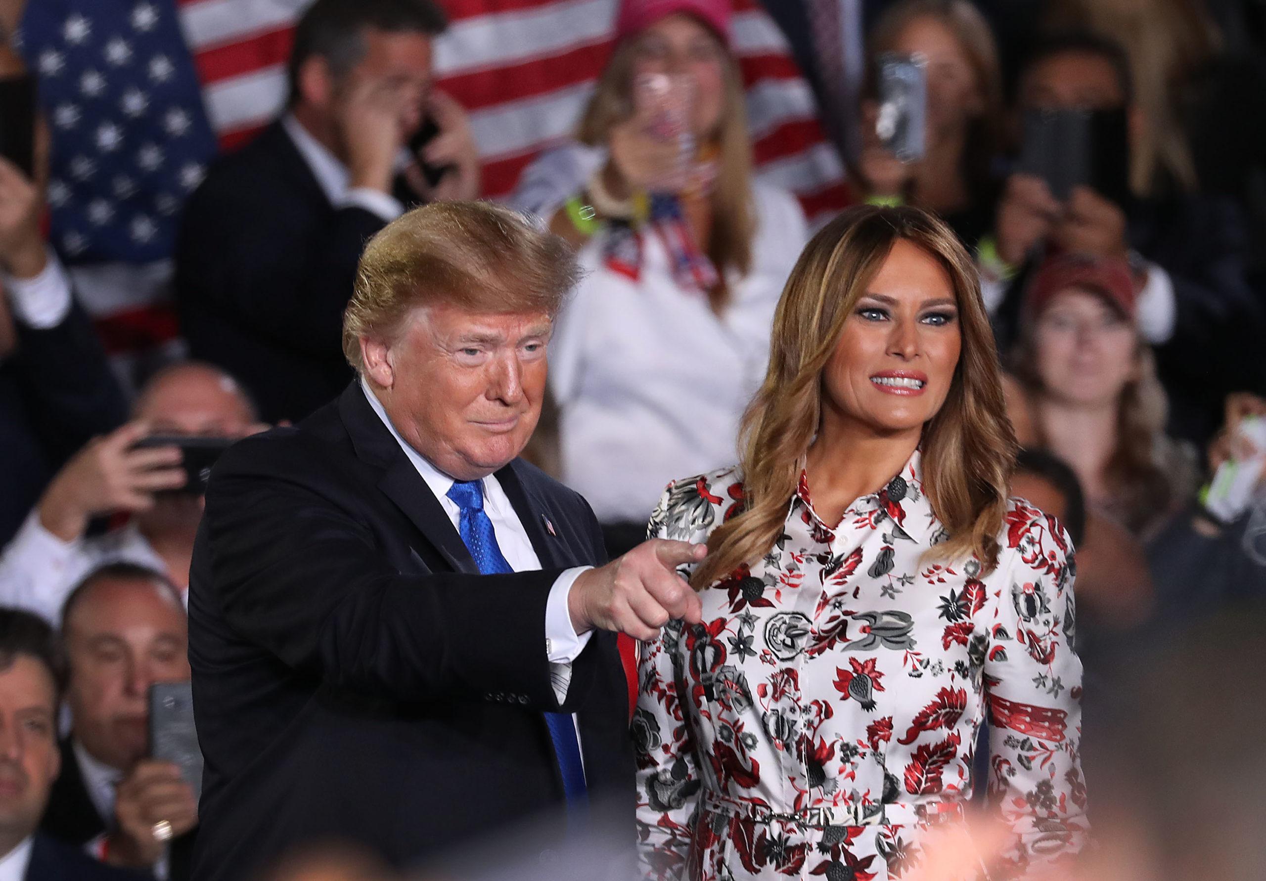 Trump parla della finta Melania