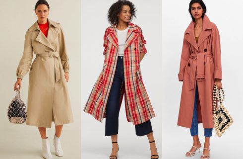 Trench moda Primavera 2019 low budget