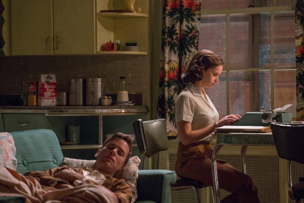 Felicity Jones e Armie Hammer in una scena di Una giusta causa