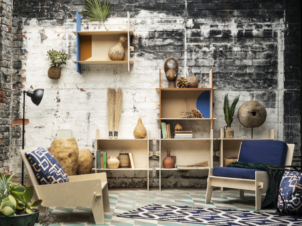 Un interno arredato con la collezione Ikea Overallt: