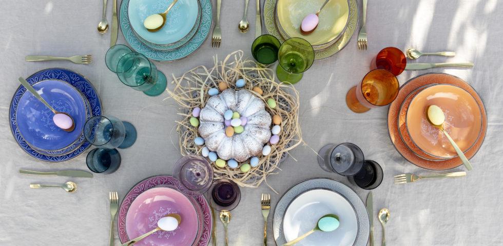 Tavola di Pasqua elegante: stili e idee