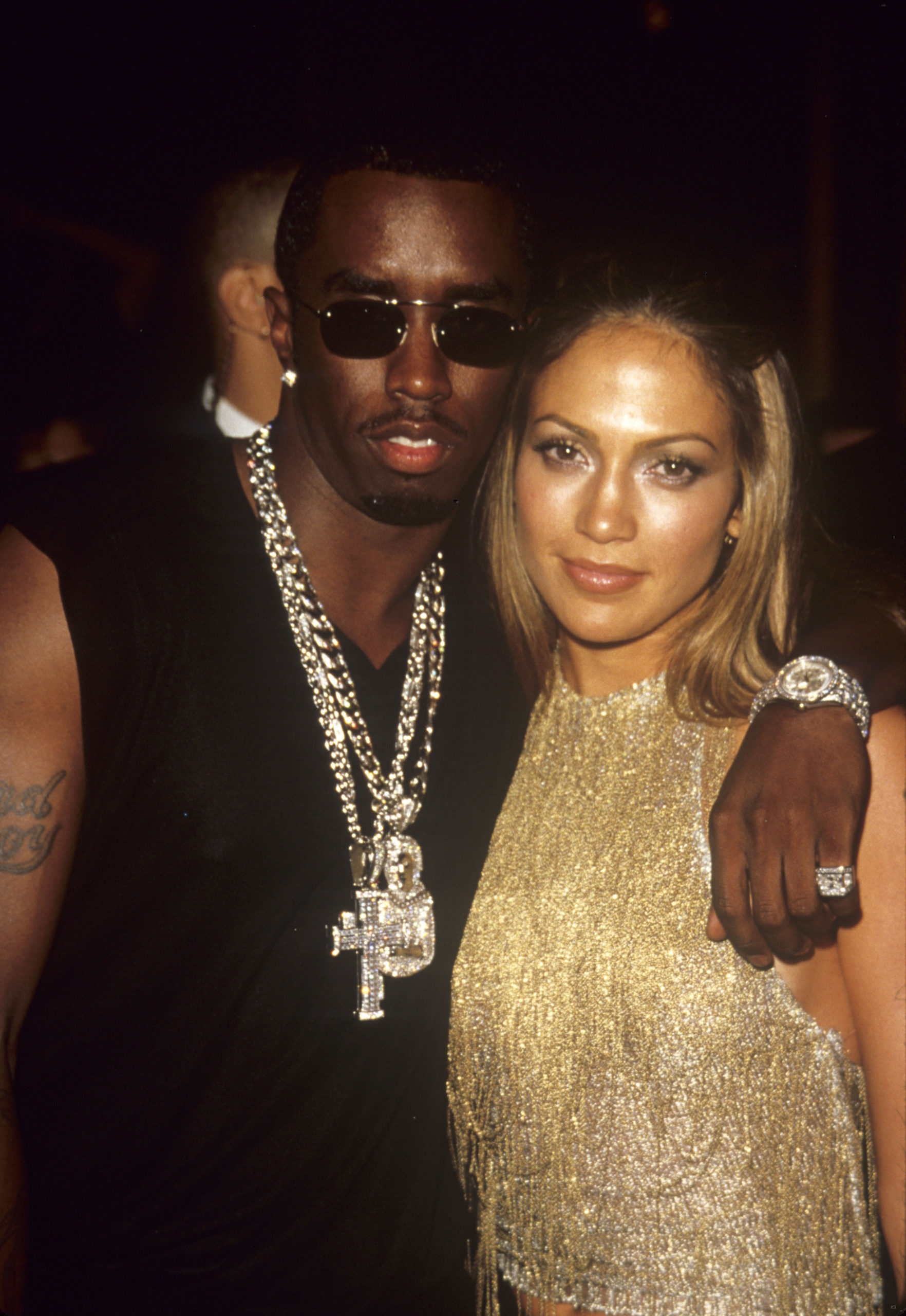 Jennifer Lopez e Diddy nel 2000 (foto Getty Images)