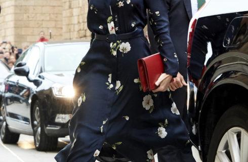 Letizia Ortiz, abito Massimo Dutti per Pasqua