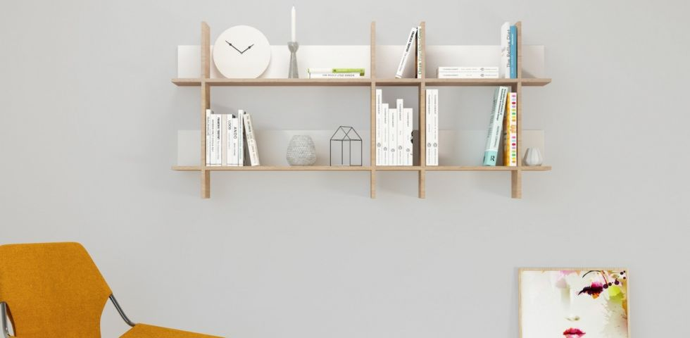 Mensole di design per il salotto, idee e consigli
