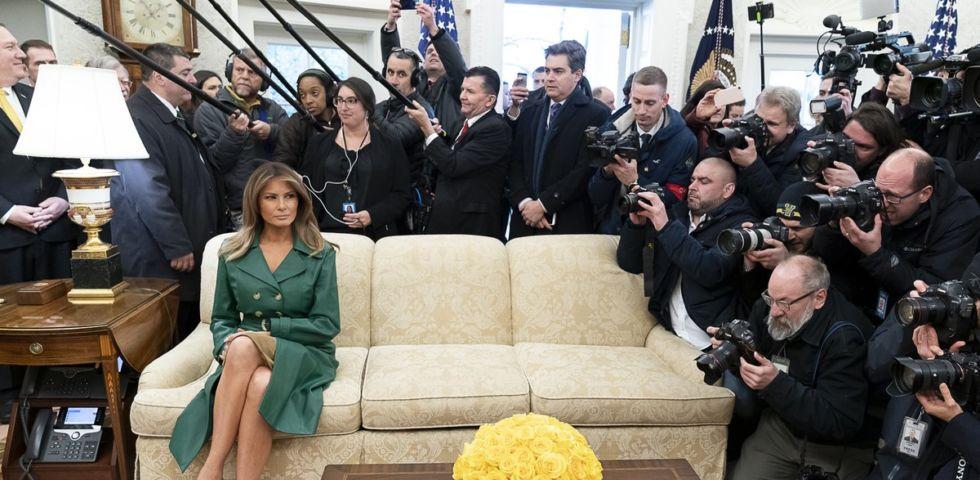 Melania Trump: la foto di compleanno diventa virale