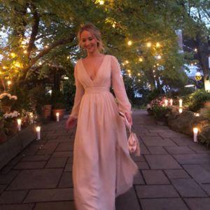 Il look di Jennifer Lawrence alla sua festa di fidanzamento