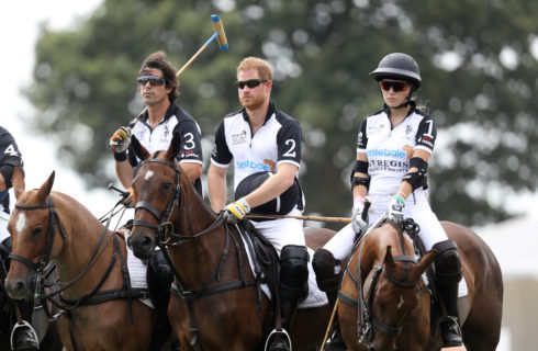 Principe Harry a Roma per una partita di polo