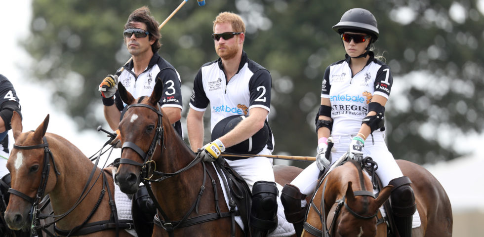 Principe Harry a Roma per una partita di polo