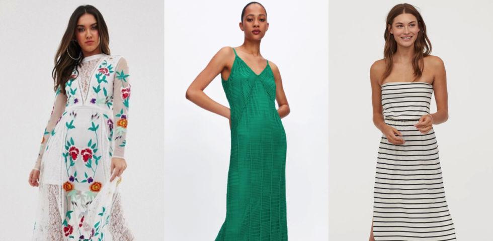 Vestiti lunghi: le proposte Asos, Zara e H&M