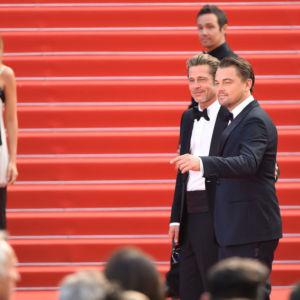 La coppia Pitt-DiCaprio infiamma il red carpet di Cannes