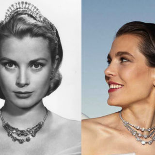 Charlotte Casiraghi con la collana di Grace Kelly