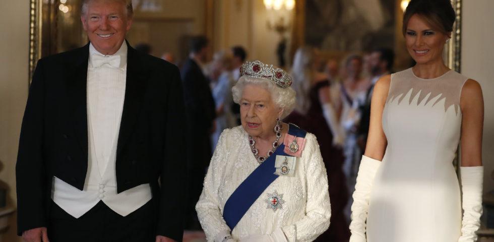 Kate Middleton e Melania Trump in bianco alla cena di Stato