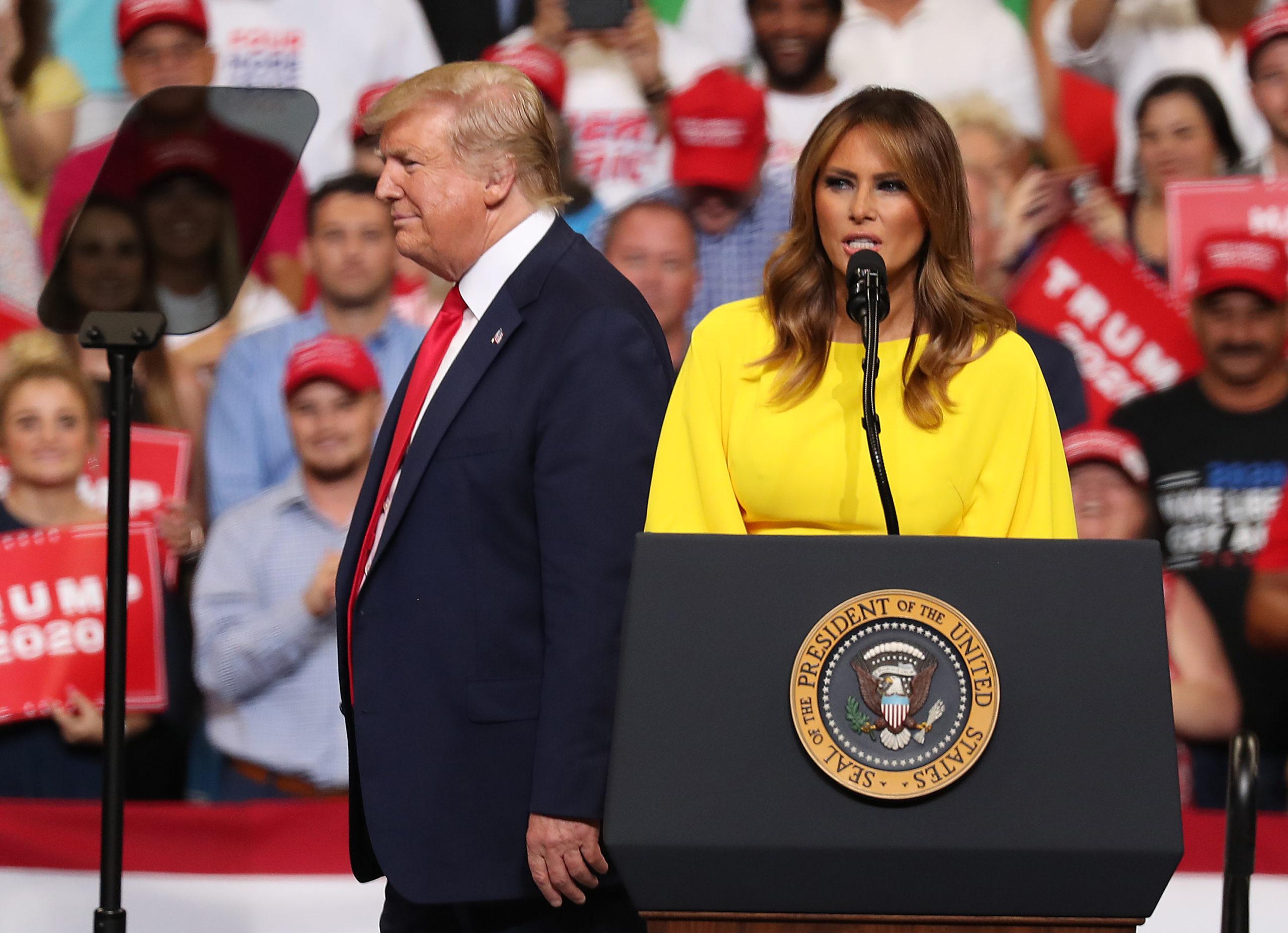 Melania ottimista per la rielezione di Trump