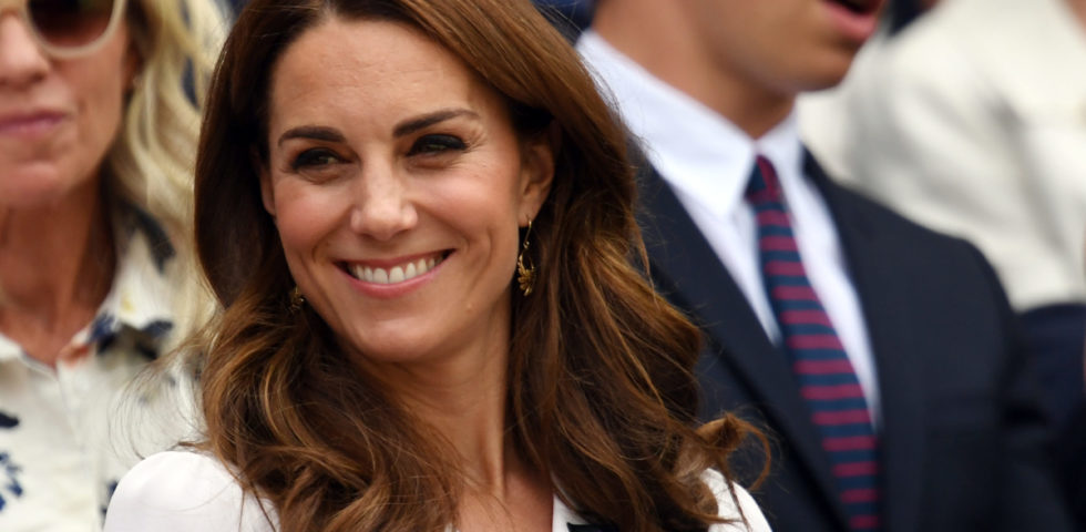 Kate Middleton regina di Wimbledon 2019 in bianco