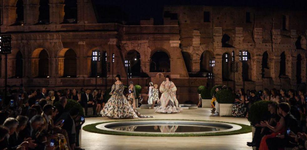 Fendi Couture, la sfilata a Roma sul Palatino per Karl Lagerfeld