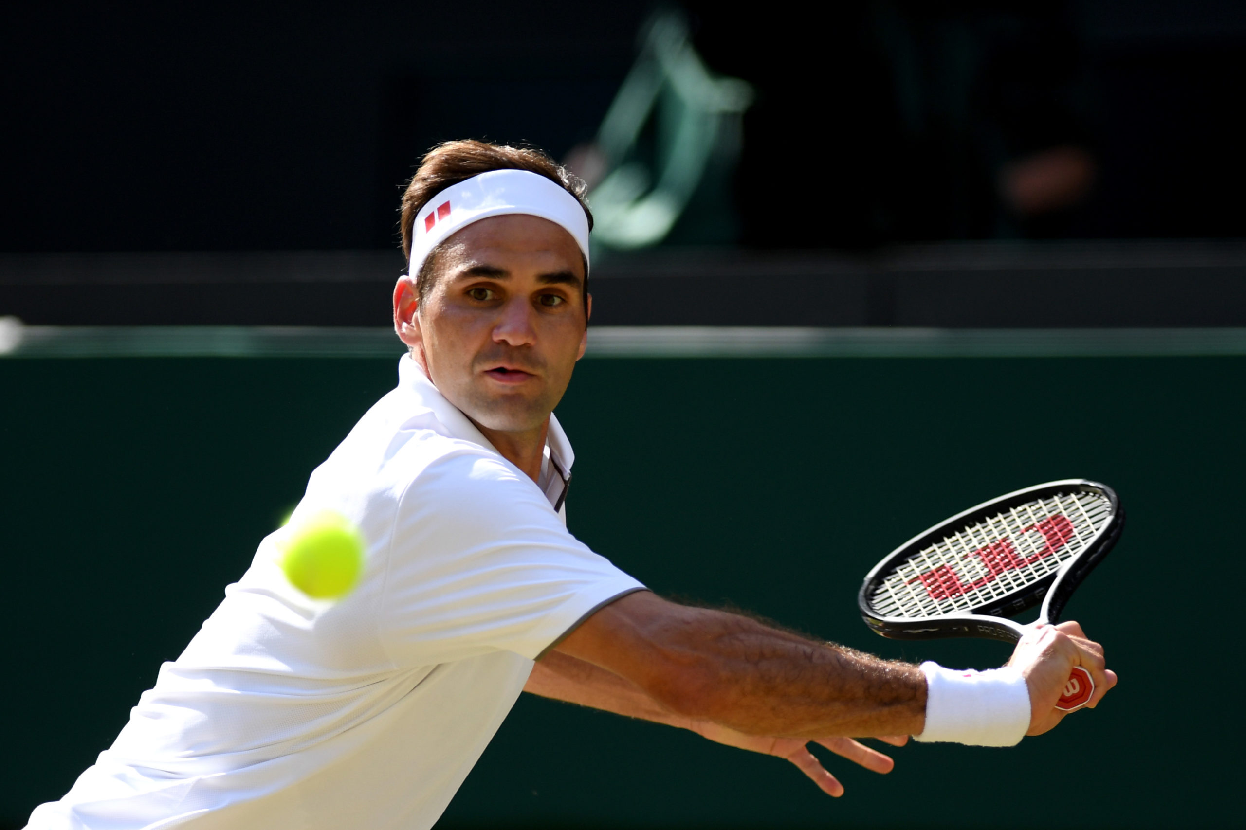 Roger Federer insegnante di Baby George
