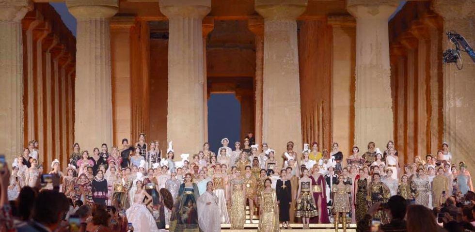Tutti i numeri della sfilata Dolce&Gabbana nella Valle dei Templi