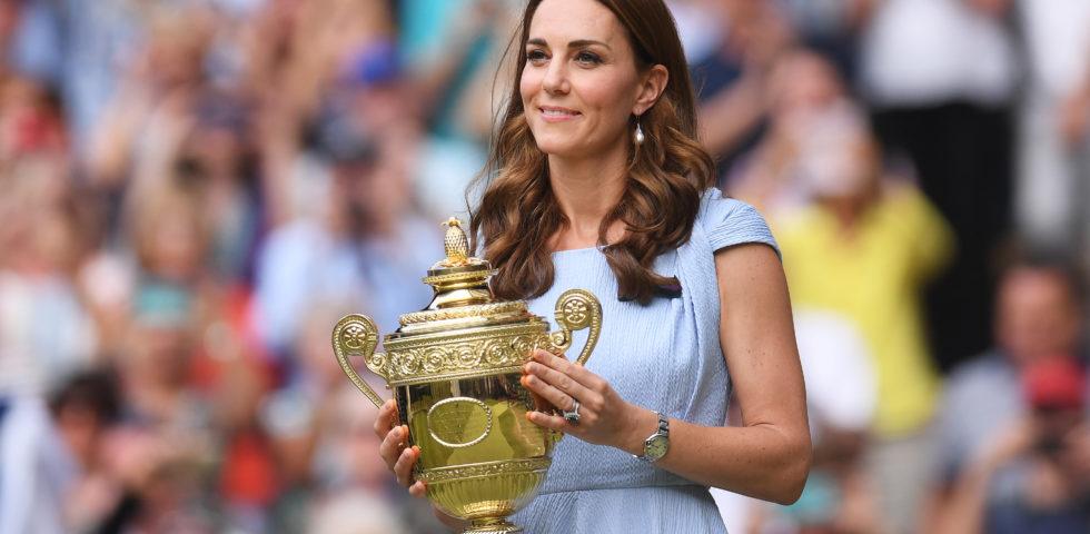 Kate Middleton premia Djokovic a Wimbledon 2019