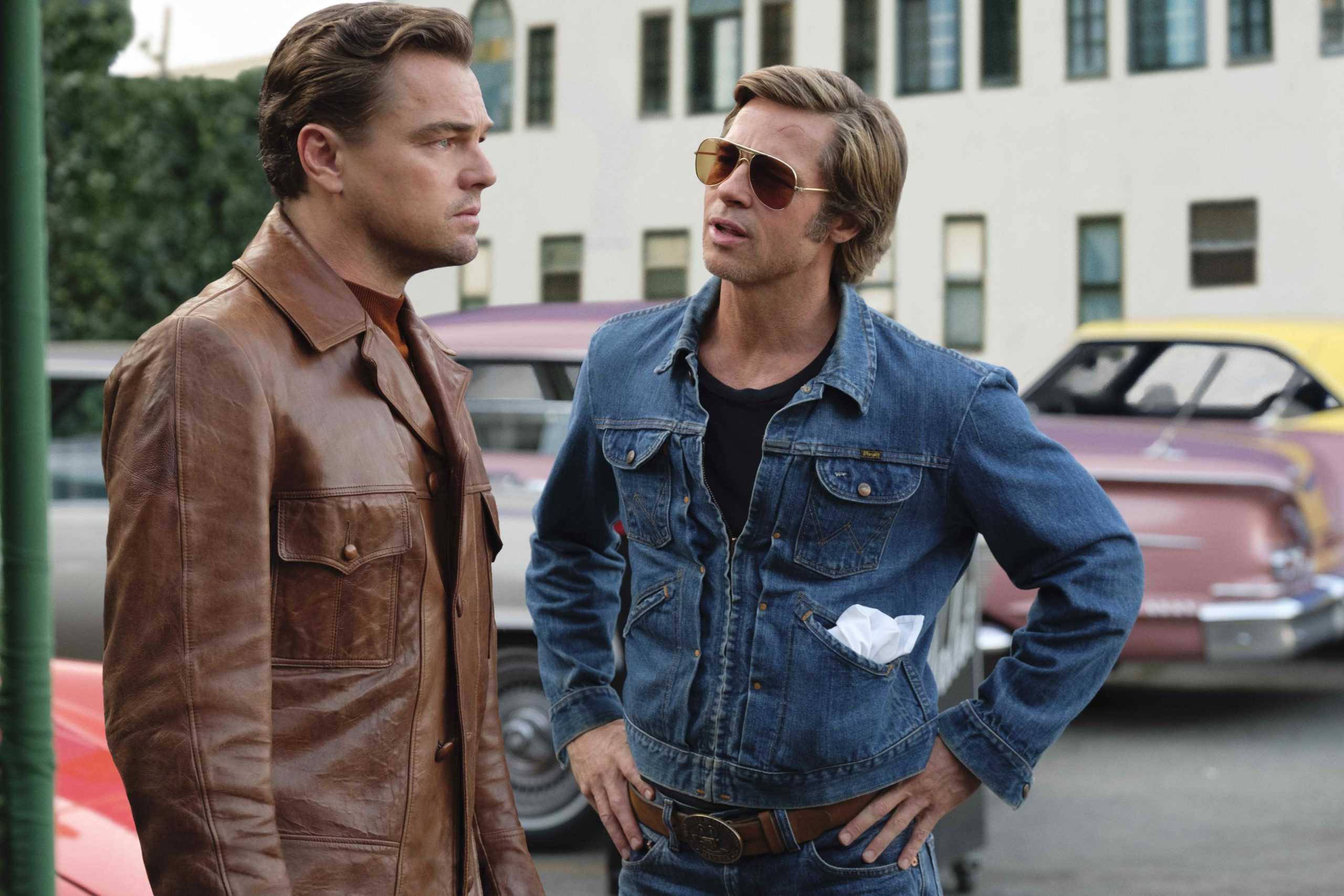 Leonardo DiCaprio e Brad Pitt in C'era una volta a... Hollywood
